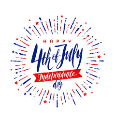 4th of july independence day - greeting design vector image