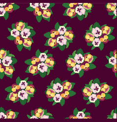 Abstract floral seamless pattern flower vector