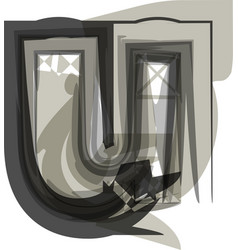 abstract letter u vector image