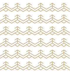 abstract white and gold seamless lines pattern vector image