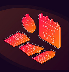 Airport service isometric color vector