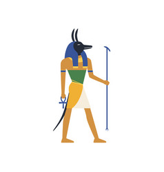Anubis the god of death egyptian ancient culture vector