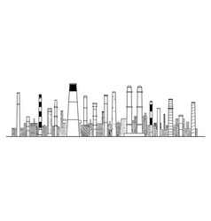 artistic drawing industrial and factory vector image