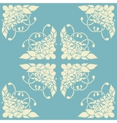 Background with abstract floral pattern vector