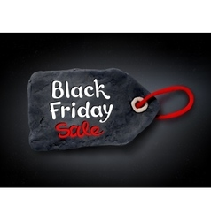 Black Friday lettering and plasticine tag banner vector image