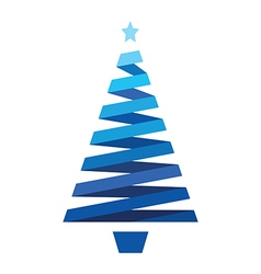 Blue christmas tree vector
