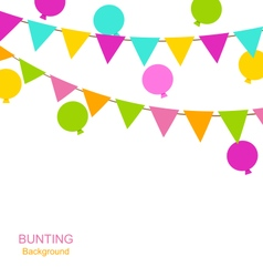 Buntings Flags Pennants and Balloons vector image vector image