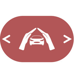 Car insurance icon on white background vector