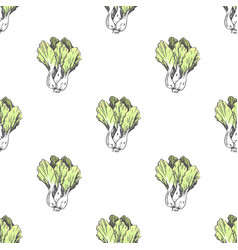 Chinese cabbage in endless texture vector