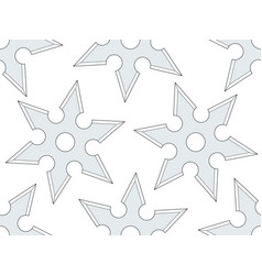 Cold steel shuriken pattern vector