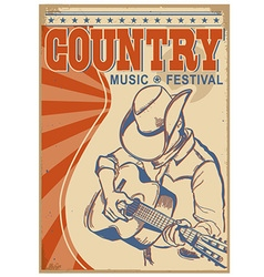 Country music background with textmusician in vector
