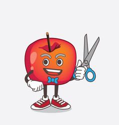 crab apple cartoon mascot character as smiling vector image