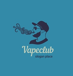 Creative logos for the club shop or electronic cig vector image