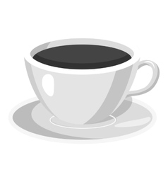 Cup of coffee icon gray monochrome style vector image