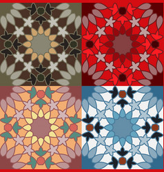 decorative pattern different color option vector image