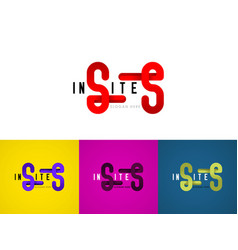 Double s logo latter can be used for companies vector