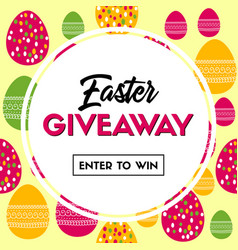Easter giveaway banner for social media contest vector
