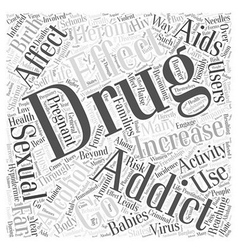Effects of Drug Addiction Word Cloud Concept vector