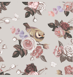 elegant floral seamless pattern with colorfull vector image vector image