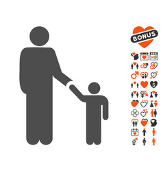 father child icon with dating bonus vector image