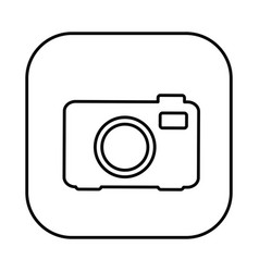 figure symbol camera icon vector image