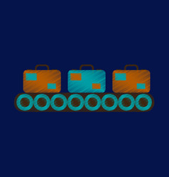flat icon in shading style baggage claim vector image