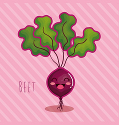 Fresh beet vegetable character vector