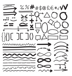 From hand-drawn labels vector