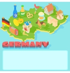 Germany map cartoon style vector