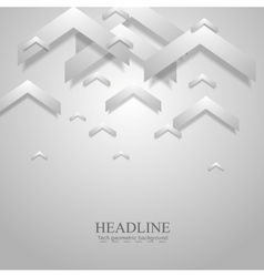 Grey light geometric corporate background with vector