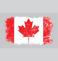 Grunge old canadian flag vector