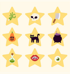halloween carnival symbols icons vector image