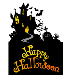 Halloween house with sign 3 vector