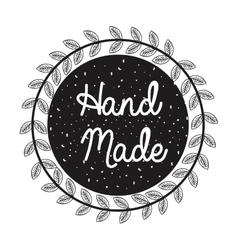 hand made label monochrome icon vector image