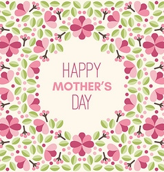 happy mothers day hand-drawn greeting card vector image