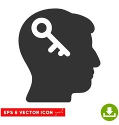 Head Key Eps Icon vector