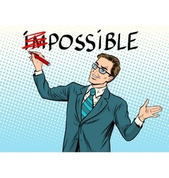 Impossible possible business concept vector