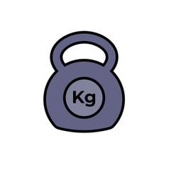 Kettlebell icon fitness exercise equipment vector