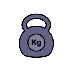 Kettlebell icon fitness exercise equipment with vector