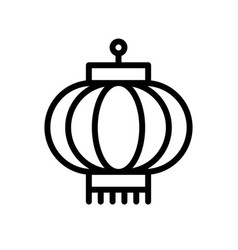 lantern chinese new year related line style icon vector image