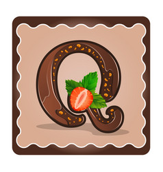 Letter q candies chocolate vector