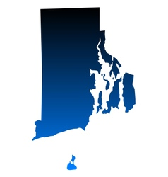 Map of Rhode Island vector image