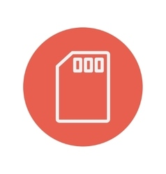 Memory card thin line icon vector