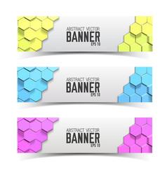 modern business banner set vector image