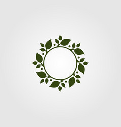 nature leaf circle symbol design green leaf logo vector image