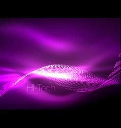 Neon smoke waves vector