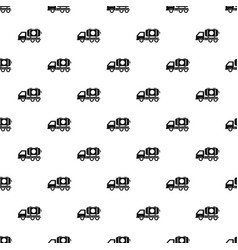 petrol truck pattern seamless vector image