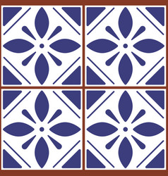 Portuguese and moroccan tile seamless pattern vector