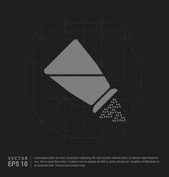 Salt or pepper shaker icon - black creative vector
