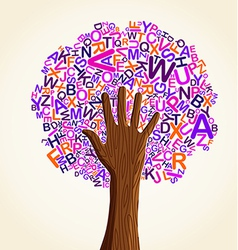school education concept tree vector image